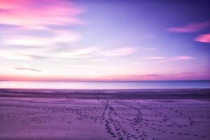 Footsteps (Longtime Exposure) by CarinaNeufeld
