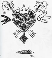 Kingdom Hearts Tribal Tattoo by LordBlumiere