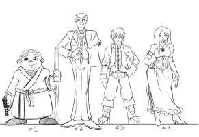 Principles of Animation - Character Lineup by MrRentaro