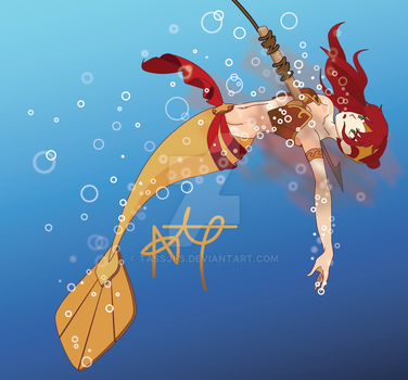 Pyrrha Mermaid AU by LaceyHolmes