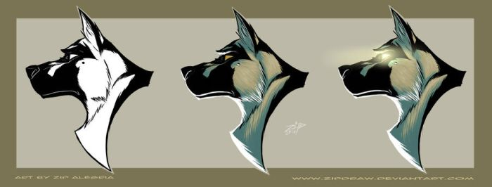 German Shepard logo design by ZipDraw