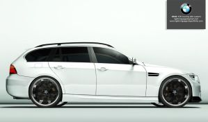 bmw 335i touring e90 custom 02 by lightningsaga