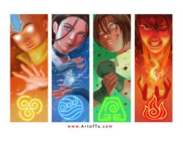 Avatar: The Last Airbender - The Four Elements by ArtofTu