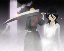 The Rescue of Rukia by josema
