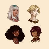 Busts commissions by Miss-Etoile