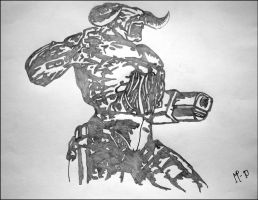 Cyberdemon_Pencil by JOrte