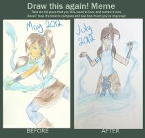Draw this Again: Korra by askingmarks