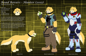 Road Rovers - Hunter (2015) Character Sheet by 6spiritking