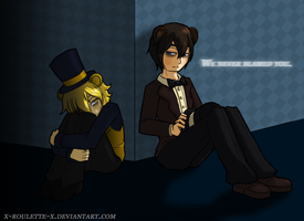 We Never Blamed You [Human!Freddy/Human!Goldie] by x-Roulette-x