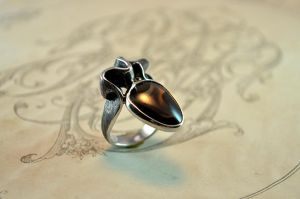 AGATE silver ring by GatoJewel-DerKater