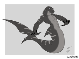 Rex's Merman Form Concept by GunZcon