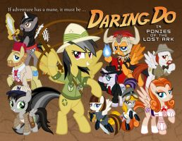 Daring Do in Ponies of the Lost Ark by tygerbug