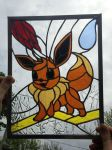 Stained Glass Pokemon Eevee by mth1804