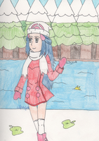 Pokemon - Hikari by the Snowy Lake by SwiftNinja91