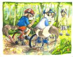 Timothy and Collin got stuck by Foxfan1992