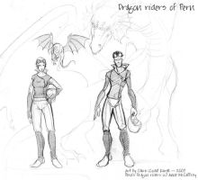 Dragon riders of Pern by coda-leia