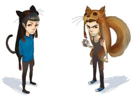 spock and sylar by queenkong13