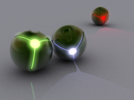 Glow Spheres by BlitzGraphics