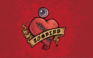I Love Zombies Wallpaper by fizzgig