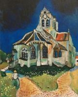 Vincent van Gogh's Church at Auvers by CHR15T0PH3L35