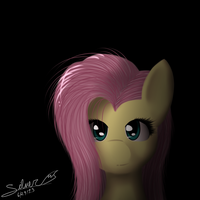 Fluttershy Painting by Silverfox057
