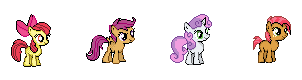 MLP Cutie Mark Crusaders Sprites by Kevfin