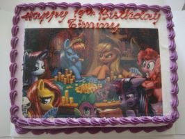 MLP Birthday Cake (Top View) by TurkeySM