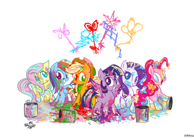 Rainbow Paint by Jowybean