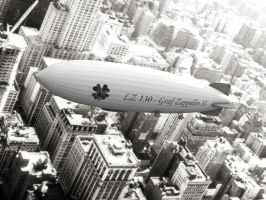 Zeppelin over Manhatten by d03090