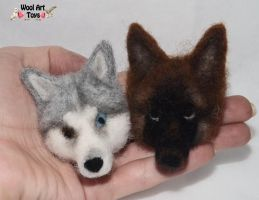Needle felted magnets by WoolArtToys