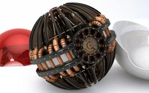 Steampunk Poke'ball by Sux2BeMe