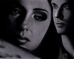 Elena and Damon by LillaMy89
