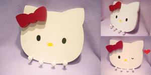 Hello Kitty Jewelry Hanger by Silent--Haze