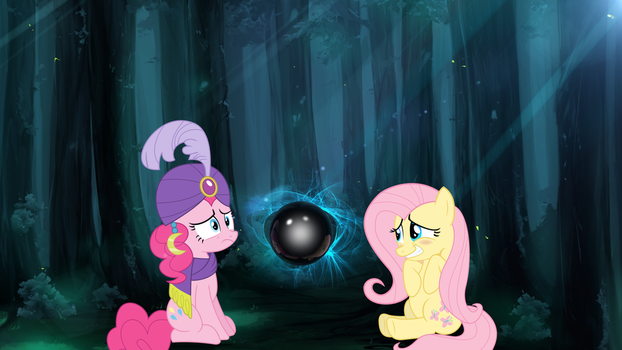 What is Pinkie Seeing?? - MLP (wallpaper) by CursyPon3