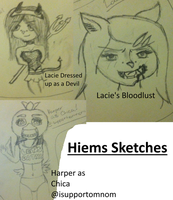 Hiems Sketches featuring Lacie with a guest Harper by kristconroy
