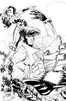 Gambit and Rogue Inks by ladykelly