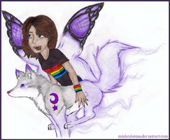Gummy, the Wolfterfly by Mishcolatosa