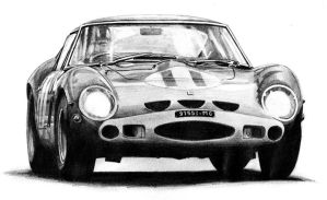 Ferrari 250 GTO, Graham Hill, 1963 Tourist Trophy by Olleandro