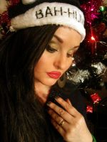 a christmas make up look by L-A-Addams-Art