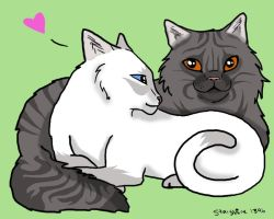 silverstream and graystripe  Silverstream and Graystripe