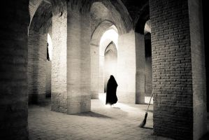 Inside Jameh mosque, Esfahan by hofiak