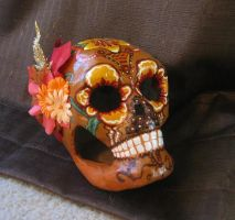 Autumn Skull by NibbleKat