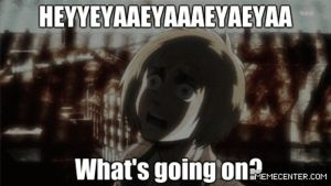 Attack on titan:What's going on? (Gif) by Sora6455