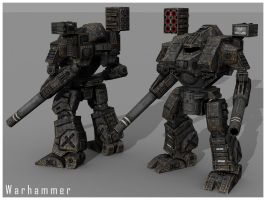 Warhammer low poly by Punakettu