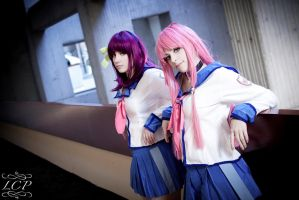 Angel Beats - Yuri + Yui by LiquidCocaine-Photos
