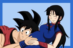 .:Goku and ChiChi:. by Beastwithaddittude