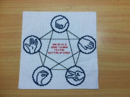 Rock Paper Scissors Lizard Spock by backstagestiches