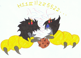 Mituna and Sollux grubs by Angie-Andrea