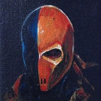 Deathstroke - mini painting by cheo36