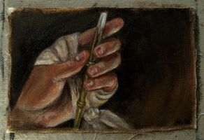 Artist's Hand in Bandages by hever